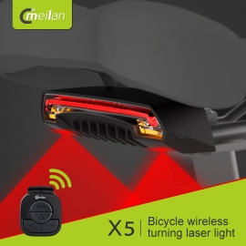 Meilan X5. Led Trasero con laser, señalizador