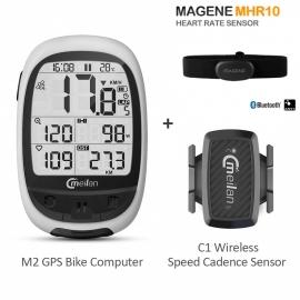Pack Meilan M2 + Banda Cardiaca Magene + Meilan C1 sensor de cadencia