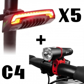 Pack Luces Meilan Trasero X5 Y Frontal C4